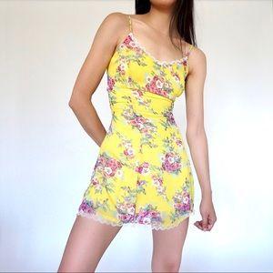 Super Cute 90s Vintage semi sheer floral dress